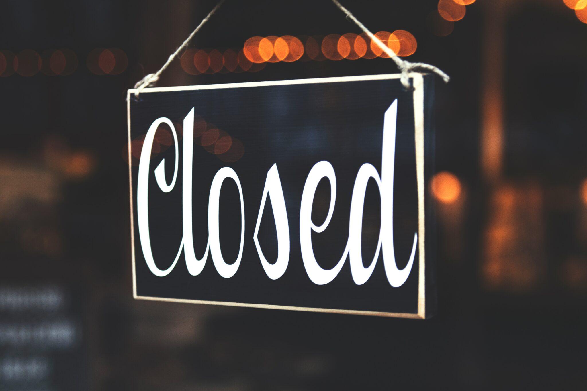 Sorry, wij zijn vanwege corona tijdelijk gesloten