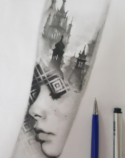 Ontwerp tatoeage: sleeve mystic tattoo SLEEUWITS TΔTOEΔGE & HUID VERBETERING