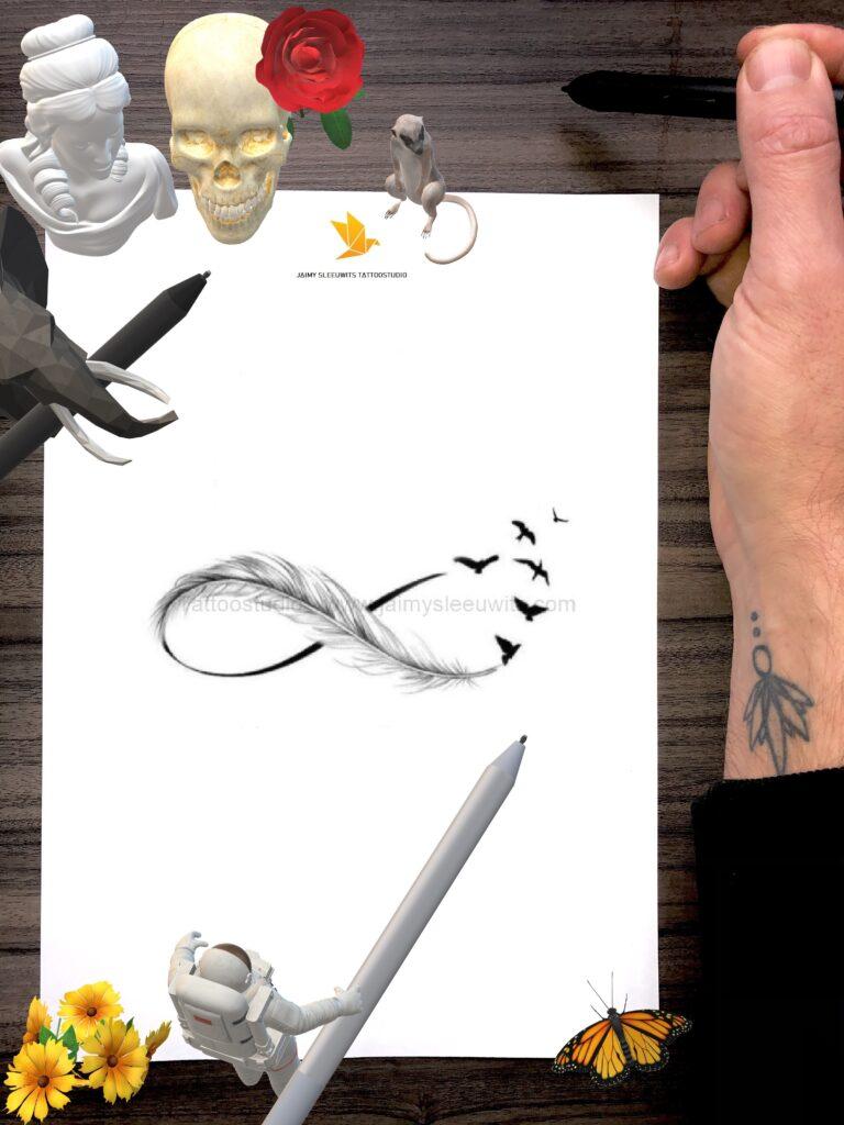 customer design infinity tattoo and more portfolio www.jaimysleeuwits.com 2020