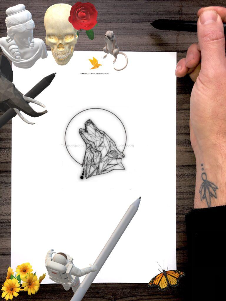 customer design morse code name geometric tattoo portfolio www.jaimysleeuwits.com 2020